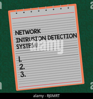 Word writing text Network Intrusion Detection System. Business concept for Safety security multimedia systems Lined Spiral Top Color Notepad photo on  - Stock Photo