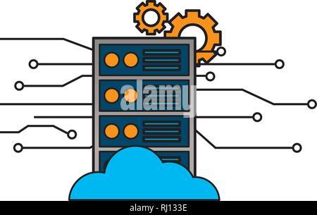 computer cpu settings circuit digital - Stock Photo