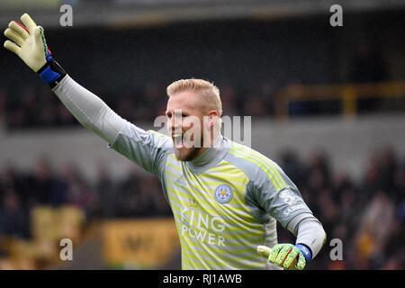 Danish goalkeeper footballer Kasper Schmeichel - Stock Photo