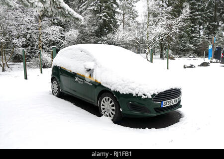 car covered in snow - Stock Photo