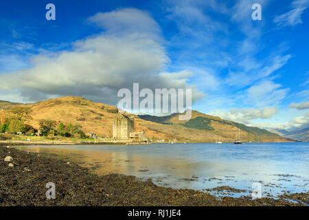 Carrick Castle on Loch Goil in Scotland. - Stock Photo