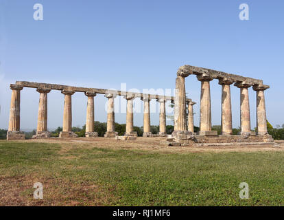 Santuary of Hera, Tavola Palatine, Benalda, Metaponto in Southern Italy - Stock Photo
