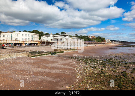 Summer overlooking the beach at Dawlish Devon England UK Europe - Stock Photo