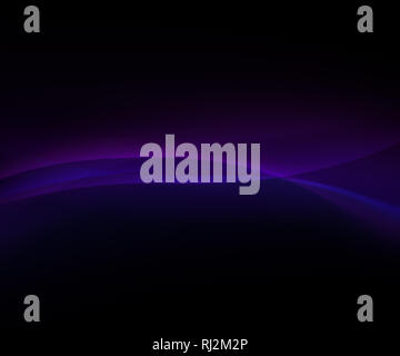 Abstract background of curvy, blurred and glowing colorful lines on black. Abstract background, vivid purple and blue ribbon. Copy space. - Stock Photo