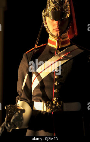 The Blues and Royals guard in Horse Guards in London, England, United Kingdom. October 24th 2008 © Wojciech Strozyk / Alamy Stock Photo - Stock Photo