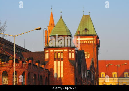 Poland, Wroclaw, old town, Market Hall, 'Hala Targowa' - Stock Photo