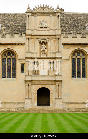The Main Quad of Wadham College, University of Oxford one of the oldest universities in the world. Historic Centre of Oxford, Oxfordshire, England, Un - Stock Photo