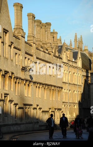 Jesus College, University of Oxford one of the oldest universities in the world. Historic Centre of Oxford, Oxfordshire, England, United Kingdom. Octo - Stock Photo