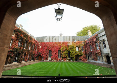 Front Quad of Lincoln College, University of Oxford one of the oldest universities in the world. Historic Centre of Oxford, Oxfordshire, England, Unit - Stock Photo
