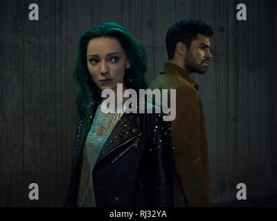 Emma Dumont, Lorna Dane, Sean Teale, 'The Gifted' Season 2 (2019)  Credit: Fox Broadcasting Co. / The Hollywood Archive - Stock Photo