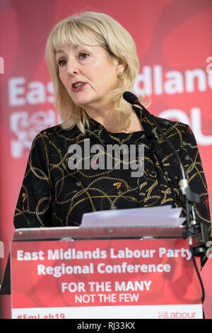 Jennie Formby, General Secretary of the Labour Party, speaking at the East Midlands Labour Party conference 2019. - Stock Photo