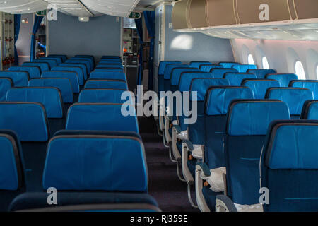 Inside Airplane Business Class Seat Vector Illustration