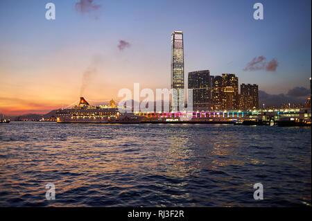 HONG KONG - MAY 09, 2012: view of Kowloon. Kowloon is an urban area in Hong Kong comprising the Kowloon Peninsula and New Kowloon. - Stock Photo