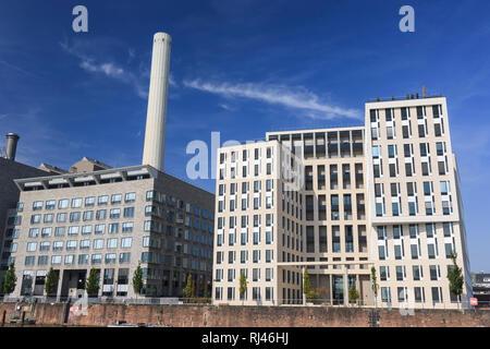 Europa, Deutschland, Hessen, Frankfurt, Westhafen, Bürogebäude - Stock Photo