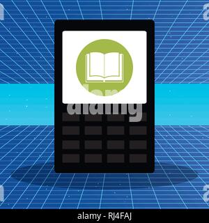 tablet with app ebook vector illustration design - Stock Photo