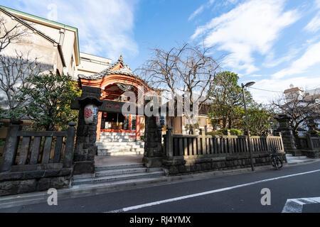 Chosen-in temple, Koto-Ku, Tokyo, Japan - Stock Photo