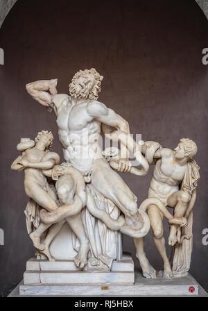 Europa, Italien, Latium, Rom, Vatikan, Laokoon-Gruppe (Vatikanische Museen) - Stock Photo