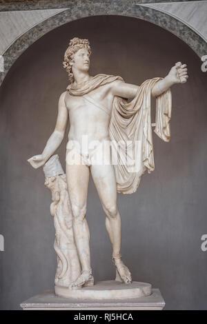 Europa, Italien, Latium, Rom, Vatikan, Statue des Apollo von Belvedere (Vatikanische Museen) - Stock Photo