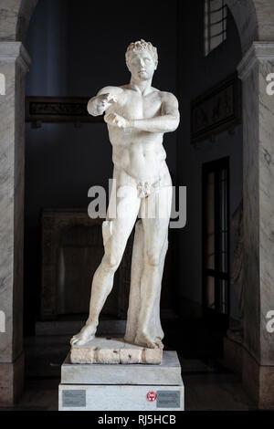 Europa, Italien, Latium, Rom, Vatikan, Statue des Apoxyomenos (Vatikanische Museen) - Stock Photo