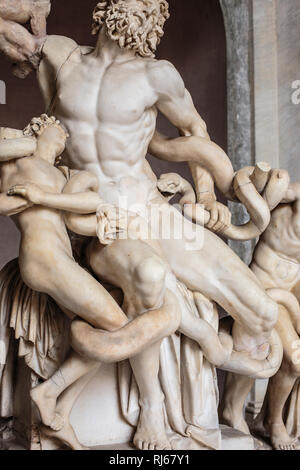 Europa, Italien, Latium, Rom, Vatikan, Detail der Laokoon-Gruppe (Vatikanische Museen) - Stock Photo