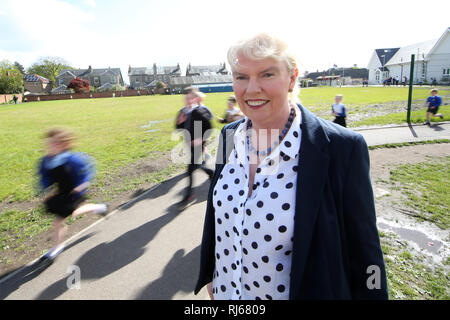 Elaine Wylie founder of the school Daily Mile and former headteacher at St Ninians Primary School in Stirling, - Stock Photo