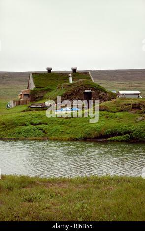 Haus, Saenautasel, Island, Landschaft - Stock Photo