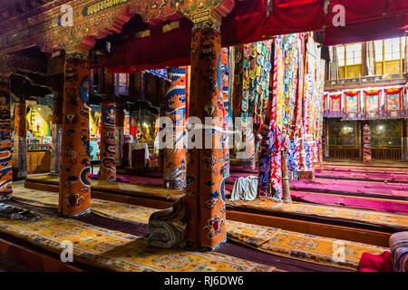Tibet, das Kloster Sera, innen - Stock Photo