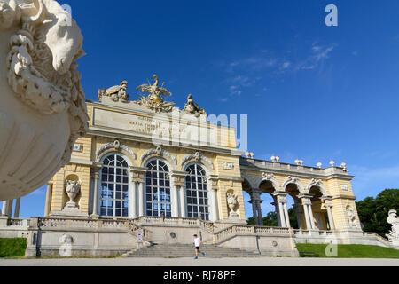 Gloriette in Schlosspark (castle grounds) Schönbrunn, Wien, Vienna, 13. Hietzing, Wien, Austria - Stock Photo