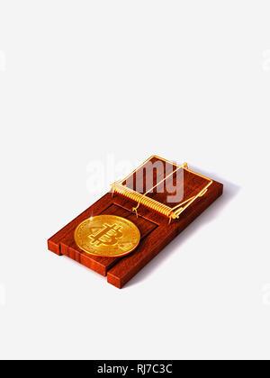 Bitcoin, Kryptowährung, Virtuelle Währung, Falle, Risiko - Stock Photo