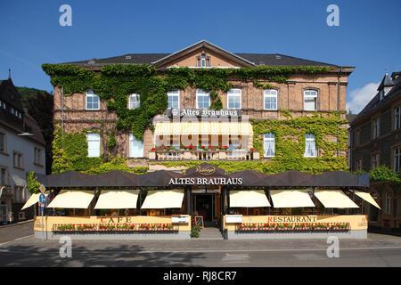 Gasthaus Altes Brauhaus, Gestade, Bernkastel-Kues, Rheinland-Pfalz, Deutschland - Stock Photo
