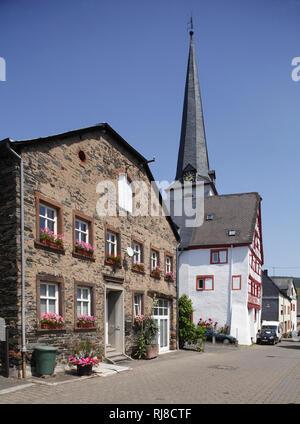 Altes Haus, Ortsteil Kues, Bernkastel-Kues, Rheinland-Pfalz, Deutschland - Stock Photo