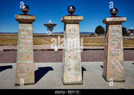Bracewell Radio Sundial at the Very Large Array, VLA, New Mexico, USA - Stock Photo