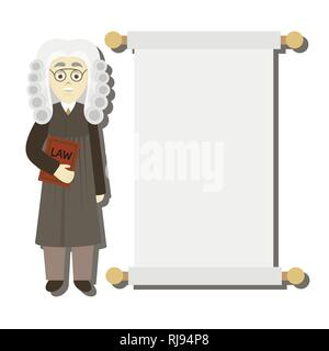 Hand drawn legal judge. Law concept. Vector illustration, EPS 10 - Stock Photo