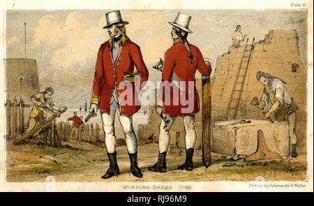 Artificers in their working dress - Stock Photo