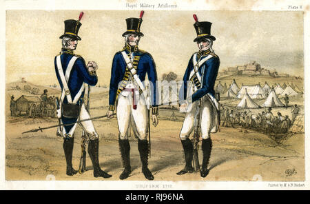 British artificers in uniform - Stock Photo