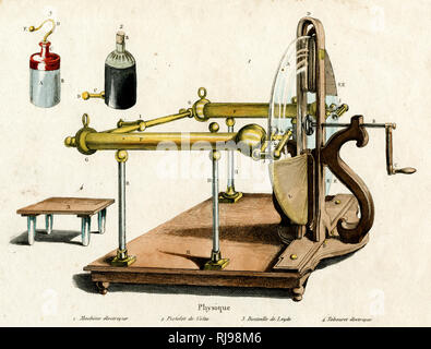 RAMSDEN'S IMPROVED PLATE ELECTRIC MACHINE - Stock Photo