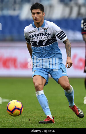 Joaquin Correa of Lazio in action during the Serie A 2018/2019 football match between SS Lazio and Cagliari at stadio Olimpico, Roma, December 22, 201 - Stock Photo
