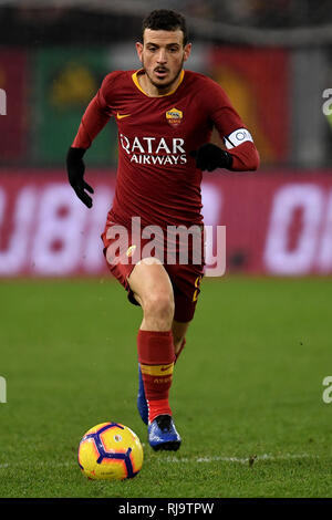 Alessandro Florenzi of AS Roma in action during the Serie A 2018/2019 football match between AS Roma and Sassuolo at stadio Olimpico, Roma, December,  - Stock Photo