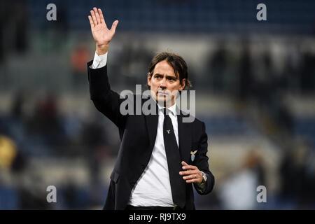Simone Inzaghi, Lazio coach. Roma 29-12-2018 Stadio Olimpico Football Serie A 2018/2019  Lazio - Torino Foto Antonietta Baldassarre / Insidefoto - Stock Photo