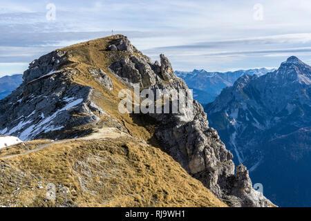 Österreich, Tirol, Stubaier Alpen, Neustift, Blick auf den Niederen Burgstall in den Stubaier Alpen - Stock Photo