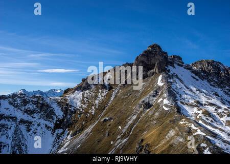 Österreich, Tirol, Stubaier Alpen, Neustift, Hoher Burgstall im Stubai - Stock Photo