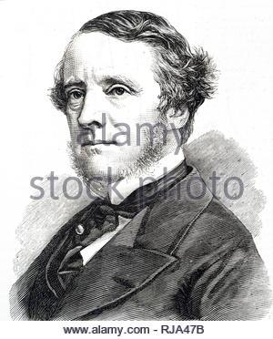 Portrait of Chichester Parkinson-Fortescue, 1st Baron Carlingford (1823-1898) a British Liberal politician. Dated 19th century - Stock Photo