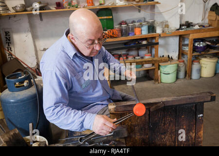 Glassblowing art from Murano - Stock Photo