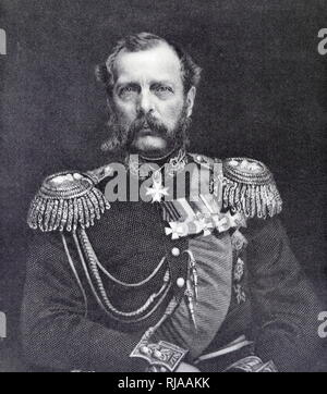 Alexander II (1818 – 1881), Emperor of Russia from 1855 until his assassination on 13 March 1881. - Stock Photo