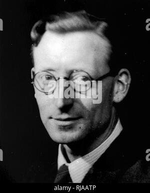Thomas Harold Flowers, (1905 – 1998), English engineer who, during World War II, designed and built Colossus, the world's first programmable electronic computer, to help decode encrypted German messages. - Stock Photo