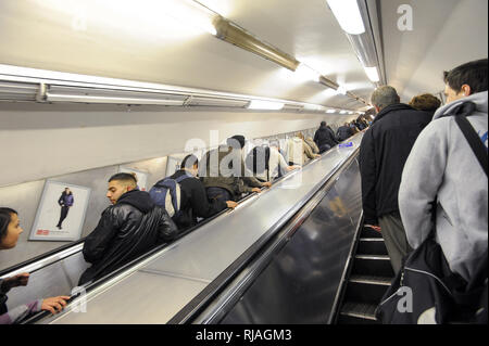 London Underground station in London, England, United Kingdom. October 27th 2008 © Wojciech Strozyk / Alamy Stock Photo - Stock Photo