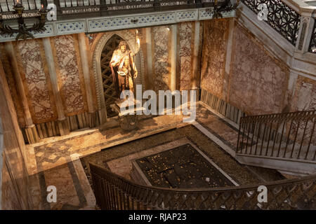 Saint John the Baptist at the Archbasilica of St. John Lateran, Cathedral of the Most Holy Savior and of Saints John the Baptist and the Evangelist in - Stock Photo