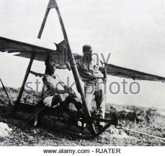 Glider crew of the Palavir, the air force for the Palmas, (Jewish underground in Palestine). In 1945, the Palavir was developed as Palmach's air division. The Palavir fell under the command of the unofficial Jewish defense force Haganah and operated prior to the establishment of the State of Israel. The Palavir disguised itself as an aero club called Palestine Flying Club and continued to train until 1947. In 1948 the Palavir became the Israeli Air Force. - Stock Photo