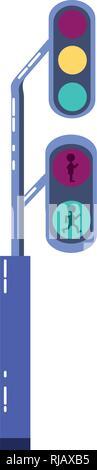traffic light semaphore icon vector illustration design - Stock Photo