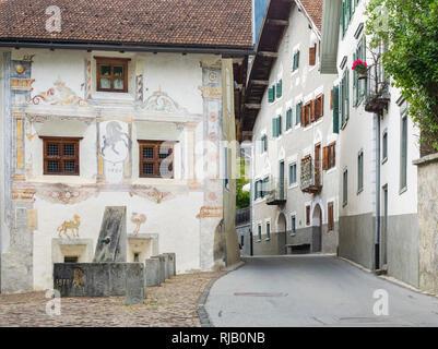 Historischer Dorfkern von Filisur in Graubünden - Stock Photo